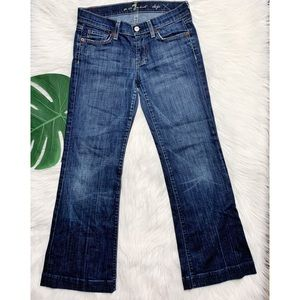 7 For All Mankind Wide Leg Cropped Dojo Size 26